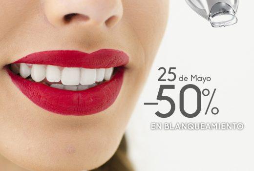 Jornada de Puertas Abiertas: Blanqueamiento dental al 50%